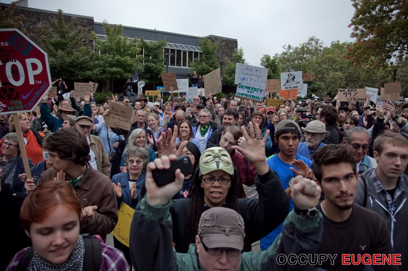 October 15th 2012, Wayne Morse Free Speech Plaza: Day of Rage