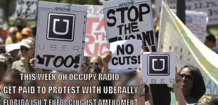 15/4/1 Occupy Radio: Get Paid to Protest with UberAlly, plus Mike Bonanno of the Yes Men