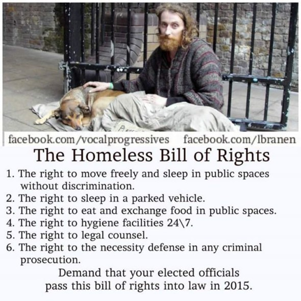 homeless bill of righs