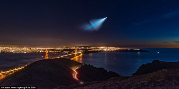 The missile test was seen dramatically as far north as San Francisco, over 400 miles away