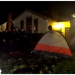 Occupy Eugene Tent Monsters Infest George Poling's Lawn
