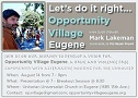 Mark Lakeman Presentation for Opportunity Village Eugene