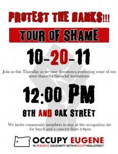 Tour of Shame Protest of the Banks