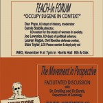 Why Occupy? Two Upcoming Events