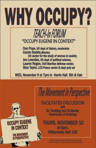 Why Occupy? Teach-in Forum