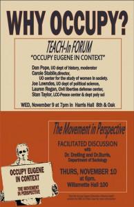 Why Occupy? Teach-in Forum