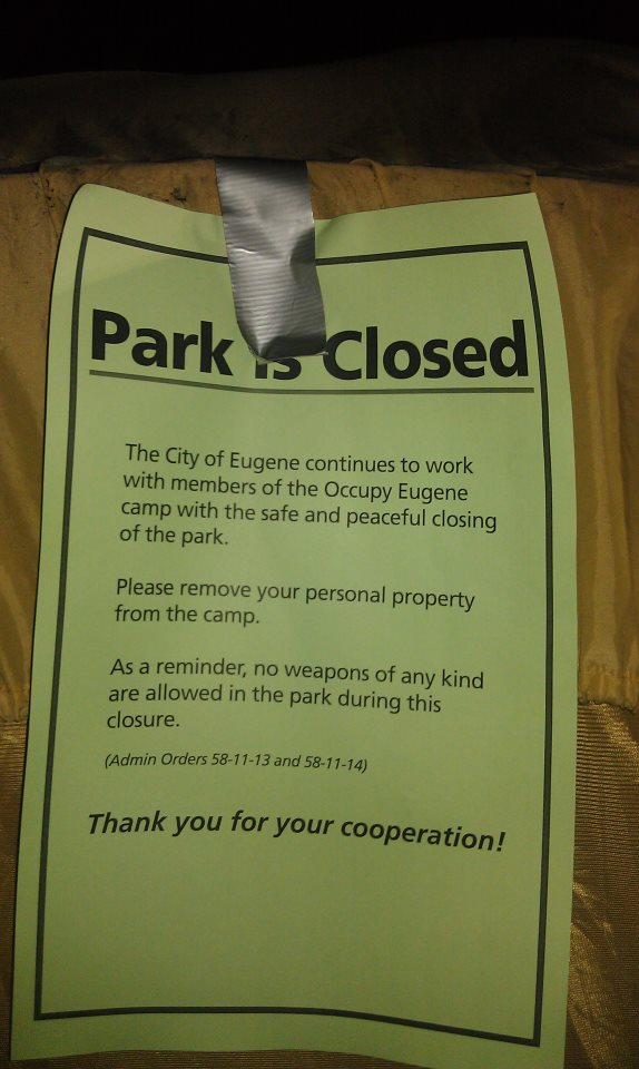 OE Park is closed